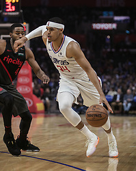 December 17, 2018 - Los Angeles, California, United States of America - Tobias Harris #34 of the Los Angeles Clippers with the ball during their NBA game with the Portland Trailblazers on Monday December 17, 2018 at the Staples Center in Los Angeles, California. Clippers lose to Trailblazers, 127-131. JAVIER ROJAS/PI (Credit Image: © Prensa Internacional via ZUMA Wire)