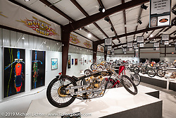 Arlen Ness' Nesstique in the What's the Skinny Exhibition (2019 iteration of the Motorcycles as Art annual series) at the Sturgis Buffalo Chip during the Sturgis Black Hills Motorcycle Rally. SD, USA. Wednesday, August 7, 2019. Photography ©2019 Michael Lichter.