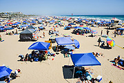 Crowded Huntington Beach