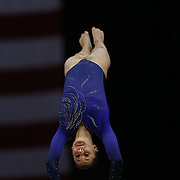 Madison Desch, Lenexa, Kansas, in action during the Senior Women Competition at The 2013 P&G Gymnastics Championships, USA Gymnastics' National Championships at the XL, Centre, Hartford, Connecticut, USA. 17th August 2013. Photo Tim Clayton