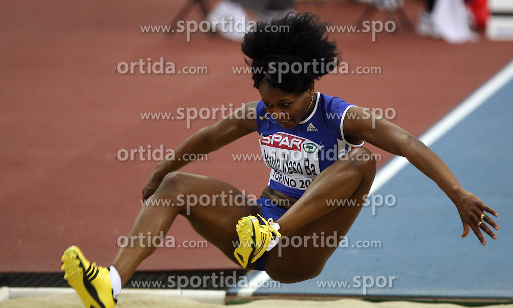 French triple  jump athlete Teresa Nzola Meso Ba in the Qualification at the 1st day of  European Athletics Indoor Championships Torino 2009 (6th - 8th March), at Oval Lingotto Stadium,  Torino, Italy, on March 6, 2009. (Photo by Vid Ponikvar / Sportida)