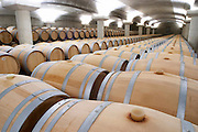 silicone bung on barrel barrel aging cellar chateau la garde pessac leognan graves bordeaux france