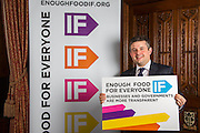 Jon Ashworth MP supporting the Enough Food for Everyone?IF campaign. .MP's and Peers attended the parliamentary launch of the IF campaign in the State Rooms of Speakers House, Palace of Westminster. London, UK.