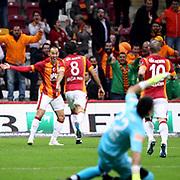 Galatasaray's  Umut Bulut (L) during their Turkish Super League soccer match Galatasaray between Kayseri Erciyesspor at the AliSamiYen Spor Kompleksi TT Arena at Seyrantepe in Istanbul Turkey on Friday, 27 February 2015. Photo by Batuhan AKICI/TURKPIX