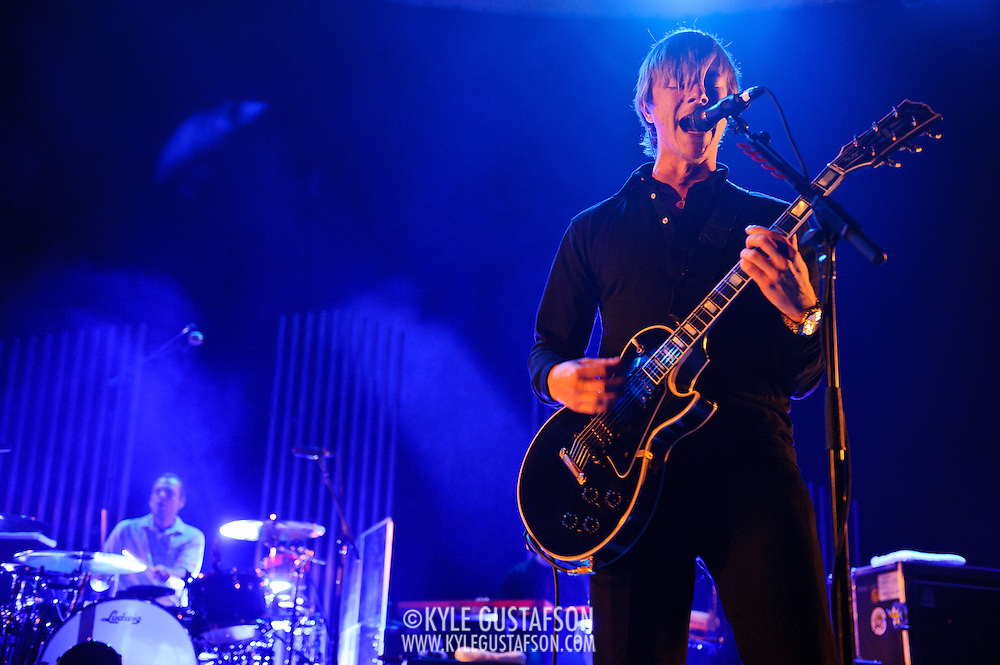 WASHINGTON, D.C. - November 3rd, 2010:  Interpol perform at DAR Constitution Hall. The band is currently touring behind their self-titled fourth album, released earlier this year. (Photo by Kyle Gustafson/For The Washington Post)