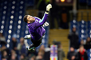 Manchester City goalkeeper Ederson (31) \ewa\ during the Premier League match between Burnley and Manchester City at Turf Moor, Burnley, England on 3 December 2019.
