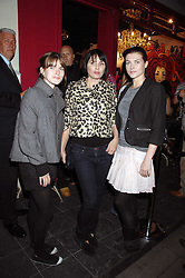 Left to right, sisters JADE DAVIDSON, SADIE FROST and HOLLY DAVIDSON at the launch party for the shop 'Lost in Beauty' 117 Regents Park Road, London NW1 on 22nd April 2008.<br /><br />NON EXCLUSIVE - WORLD RIGHTS