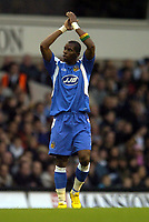 Photo: Olly Greenwood.<br /> Tottenham Hotspur v Wigan Athletic. The Barclays Premiership. 26/11/2006. Wigan's Henri Camara celebrates scoring