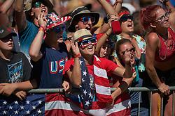July 7, 2018 - Buchanan, MI, U.S. - BUCHANAN, MI - JULY 07: RedBud fans react in action during the 2018 Red Bull RedBud National races on July 7, 2018 at RedBud MX Tack in Buchanan, Michigan. (Photo by Robin Alam/Icon Sportswire) (Credit Image: © Robin Alam/Icon SMI via ZUMA Press)