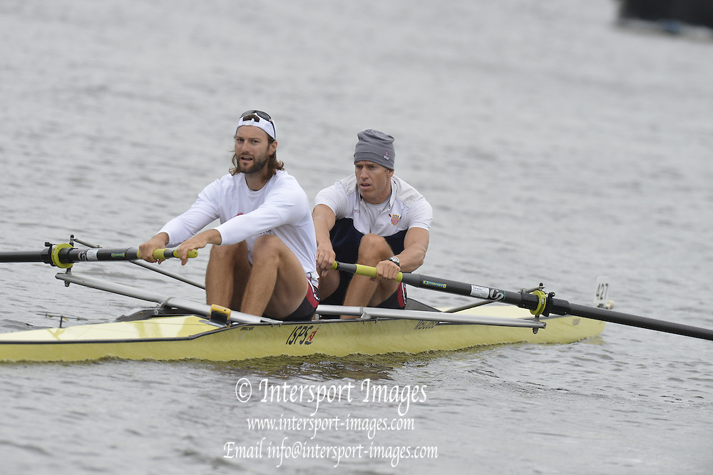 Henley, GREAT BRITAIN,  Silver Goblets and Nickalls' Challenge cup.  USA M2-, Bow Jamie KOVEN and Mike BLOMQUIST.  2012 Henley Royal Regatta. Friday  10:36:03  29/06/2012. [Mandatory Credit, Peter Spurrier/Intersport-images] ..Rowing Courses, Henley Reach, Henley, ENGLAND . HRR.