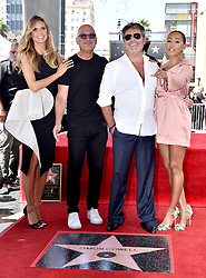 Heidi Klum, Howie Mandel and Melanie Brown attend the ceremony honoring Simon Cowell with a star on the Hollywood Walk of Fame on August 22, 2018 in Los Angeles, California. Photo by Lionel Hahn/ABACAPRESS.COM