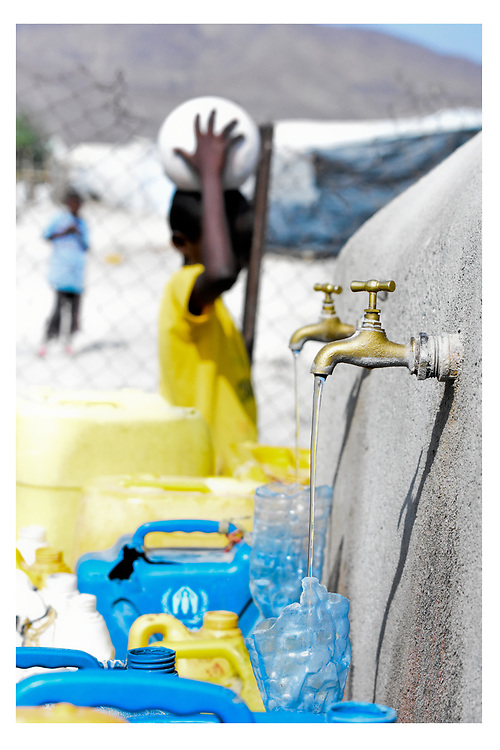 Clean water is a highly prized resource in the dry and hot Asaita Refugee Camp, Afar, Ethiopia 2016
