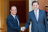 Hollande and Rajoy at Moncloa Palace 2012