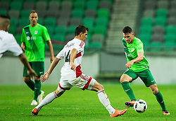 Jakub Holubek of AS Trencin vs Andraz Kirm of NK Olimpija during 1st Leg football match between NK Olimpija Ljubljana (SLO) and FK AS Trenčin (SVK) in Second Qualifying Round of UEFA Champions League 2016/17, on July 13, 2016 in SRC Stozice, Ljubljana, Slovenia. Photo by Vid Ponikvar / Sportida