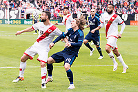 Rayo Vallecano's Rat and Real Madrid's Luka Modric during La Liga match. April 23,2016. (ALTERPHOTOS/Borja B.Hojas)