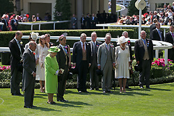 The Royal family observe a minutes silence in honour of the recent tragedies in the United Kingdom, during day one of Royal Ascot at Ascot Racecourse.