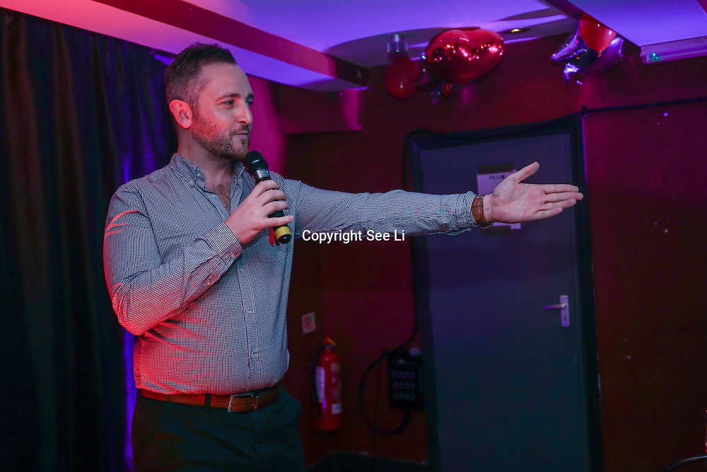 Richard Cooper is a host takes the stage at Muse in Soho for one night to help raise money for GMFA – The gay men's health charity and their HIV prevention and stigma-challenging work on 1st December 2016 in Soho,London,UK. Photo by See Li