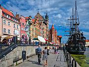 Długie Pobrzeże - deptak nadwodny w Gdańsku na Głównym Mieście