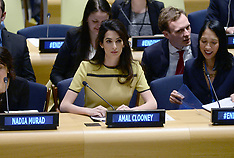 NYC: Amal Clooney Speaks At The UN  9th March 2017