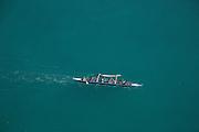 Outrigger canoes, Sand Island, Honolulu Harbor, Oahu, Hawaii