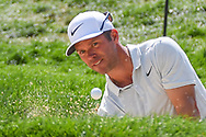 Paul Casey (ENG) hits from the trap on 15 during 2nd round of the World Golf Championships - Bridgestone Invitational, at the Firestone Country Club, Akron, Ohio. 8/3/2018.<br /> Picture: Golffile | Ken Murray<br /> <br /> <br /> All photo usage must carry mandatory copyright credit (© Golffile | Ken Murray)