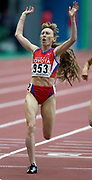 Tatyana Tomashova of Russia wins the 1,500 meters in a championship record 3:58.52 in the IAAF World Championships in Athletics at Stade de France on Sunday, Aug. 31, 2003.