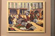 'Escena de Mercado' 1963-64 by Jose Morales Pascual  in the museum, Caceres, Extremadura, Spain