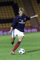 Darren Fletcher plays in a Livingstone V Man Utd XI match in 2000.