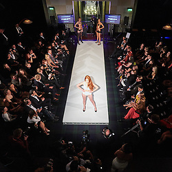 © Licensed to London News Pictures.  05/11/2014. OXFORD, UK. Oxford Fashion Week SS15 Lingerie Show at the Malmaison Hotel in Oxford. <br /> <br /> In this picture: Model wearing an outfit created by designer William Wilde. <br /> <br /> Photo credit: Cliff Hide/LNP