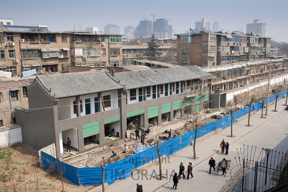New houses under construction in Xian, China