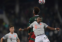 MOSCOW, RUSSIA - OCTOBER 27: Zé Luís of Lokomotiv Moskva and David Alaba contest a header during the UEFA Champions League Group A stage match between Lokomotiv Moskva and FC Bayern Muenchen at RZD Arena on October 27, 2020 in Moscow, Russia. (Photo by MB Media)