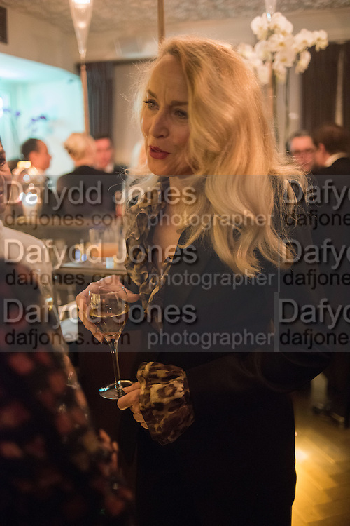 JERRY HALL, Nicky Haslam hosts dinner at  Gigi's for Leslie Caron. 22 Woodstock St. London. W1C 2AR. 25 March 2015