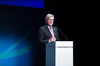"""DEU, Deutschland, Germany, Berlin, 25.11.2019: Siemens-Chef Joe Kaeser beim Internet Governance Forum (IGF) der UN im Hotel Estrel. Das IGF steht unter dem Motto """"One World. One Net. One Vision."""" und zielt darauf ab, das globale und freie Internet zu erhalten."""
