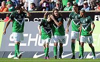 Fotball<br /> Tyskland<br /> 02.04.2011<br /> Foto: Witters/Digitalsport<br /> NORWAY ONLY<br /> <br /> 1:1 Jubel v.l. Denni Avdic, Marko Marin, Torschuetze Torsten Frings, Sandro Wagner, Wesley (Werder)<br /> Bundesliga, SV Werder Bremen - VfB Stuttgart