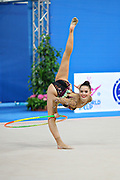 Czarniecka Anna  during qualifying at hoop in Pesaro at World Cup at Adriatic Arena on April 26, 2013. Anna is a Poland gymnast was born on April 10,1995 in Gdynia.
