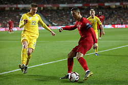 March 22, 2019 - Lisbon, Portugal - Portugal's forward Cristiano Ronaldo vies with Ukraine's defender Mykola Matviyenko during the UEFA EURO 2020 group B qualifying football match Portugal vs Ukraine, at the Luz Stadium in Lisbon, Portugal, on March 22, 2019. (Credit Image: © Pedro Fiuza/NurPhoto via ZUMA Press)