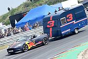 De Jumbo Racedagen, driven by Max Verstappen op Circuit Zandvoort. / The Jumbo Race Days, driven by Max Verstappen at Circuit Zandvoort.<br /> <br /> Op de foto / On the photo:  Daniel Ricciardo in actie tijdens de Caravanrace