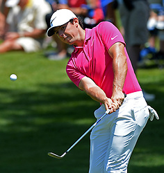 May 8, 2016 - Charlotte, NC, USA - Rory McIlroy chips onto the eighth green during the Wells Fargo Championship on Sunday, May 8, 2016, at Quail Hollow Club in Charlotte, N.C. (Credit Image: © Jeff Siner/TNS via ZUMA Wire)
