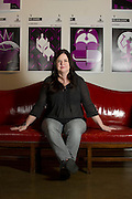 Tina Parker poses for a portrait at the Kitchen Dog Theater in Dallas on Tuesday, March 19, 2013. (Cooper Neill/The Dallas Morning News)