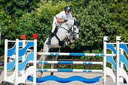 09, Youngster-Springprfg. Kl. M**  6-8j. Pferde,, Ehlersdorf, Reitanlage Jörg Naeve, 15. - 18.07.2021, Andre Thieme (GER), Choocy woccy,