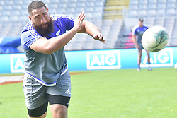 October 21, 2016 - Auckland, New Zealand - Charlie Faumuina of New Zealand All Blacks passes .during the  captain's run at Eden Park on October 21, 2016 in Auckland, New Zealand, ahead of the Third Bledisloe Cup test match against Australia Wallabies on Oct 22. (Credit Image: © Shirley Kwok/Pacific Press via ZUMA Wire)