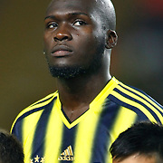 Fenerbahce's Moussa Sow during the UEFA Champions League Play-Offs First leg soccer match Fenerbahce between Arsenal at Sukru Saracaoglu stadium in Istanbul Turkey on Wednesday 21 August 2013. Photo by Aykut AKICI/TURKPIX