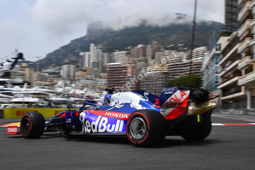 Daniil Kvyat (Toro Rosso-Honda) during practice before the 2019 Monaco Grand Prix. Photo: Grand Prix Photo