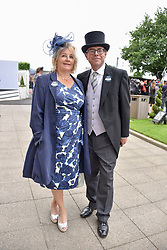 Nick Robinson and his wife Pippa at The Investec Derby, Epsom Racecourse, Epsom, Surrey, England. 02 June 2018.