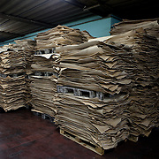 Ponte a Egola, Italy. Gi Elle Emme tannery..Leather stock.