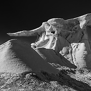 Perched Wing - Bisti Badlands - New Mexico - Black & White