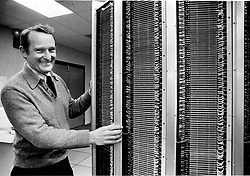 May 24, 2019 - USA - Seymour Cray, founder of Cray Research, and the company's first supercomputer, the Cray-1. (Credit Image: © TNS via ZUMA Wire)