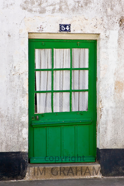 Tradtional door at numbeer 34, Ile De Re, France.
