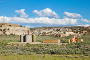 Old oil production facility in the Red Desert of Wyoming