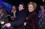 Robert Delamere and Celestria Fox, The Almeida Theatre Charity Christmas Gala, to raise funds for the theatre, at the Victoria Miro Gallery, London.  1 December  2005. ONE TIME USE ONLY - DO NOT ARCHIVE  © Copyright Photograph by Dafydd Jones 66 Stockwell Park Rd. London SW9 0DA Tel 020 7733 0108 www.dafjones.com